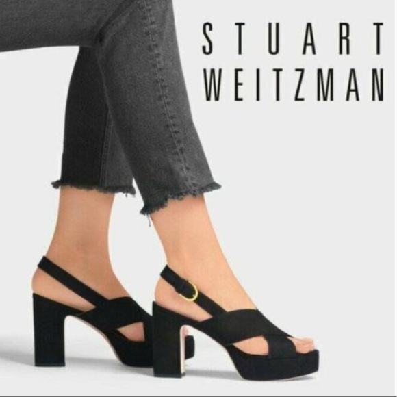 "Stuart Weitzman ""Jerry"" suede platform"